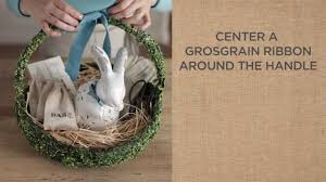 how to create garden gift baskets for easter pottery barn youtube