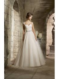 mori bridal 5375 draped bodice tulle gown style of wedding dress