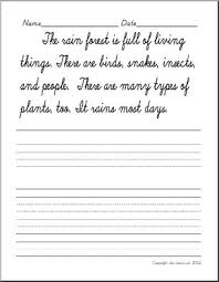 cursive writing handwriting practice sentences abcteach