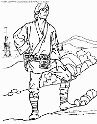 coloriage star wars luke skywalker medite  école  Pinterest