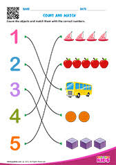 math match numbers worksheets pre k