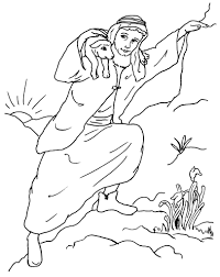 free coloring parable of the lost sheep coloring page