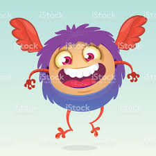 animal crossing halloween background happy cartoon flying monster halloween vector fluffy purple