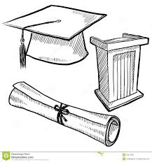 cap and gown drawing