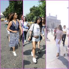 gauri khan suhana khan and a few friends snapped leaving for shah