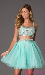 beaded two piece sleeveless crop top party dress