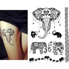 amazon com black henna body paints temporary tattoo designs