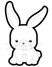 cute cartoon bunny kids coloring u0026 coloring pages