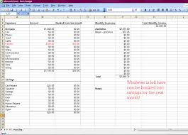 Monthly Bills Spreadsheet How To Make A Basic Monthly Budget Our Goodwin Journey