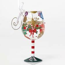 wine glass christmas ornaments 34 best wine glass ornaments images on glass ornaments