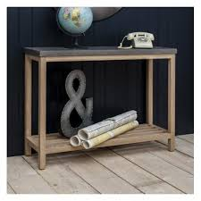 Concrete Console Table Hudson Living Oak Console Table With Concrete