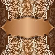 Background Invitation Card Mandala Gold Background Invitation Card Vintage Pattern With