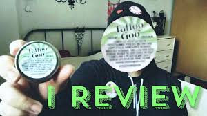 tattoo goo aftercare lotion review tattoo goo review youtube