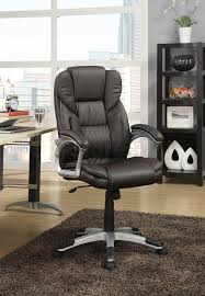 Brown Leather Task Chair Black Office Chairs Brown Fabric Leather Vinyl