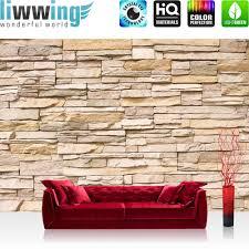 steinwand wohnzimmer material vlies fototapete asian wall steinwand tapete steinoptik