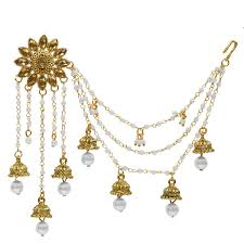 jhumka earrings with chain the luxor gold plated floral classic bahubali heavy