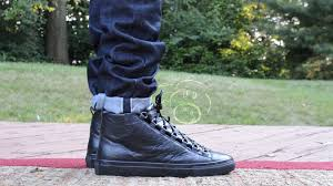 low top motorcycle shoes balenciaga arena high sneaker black noir review and on feet