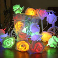 online shop 20 led fairy non waterproof colorful roses flower led