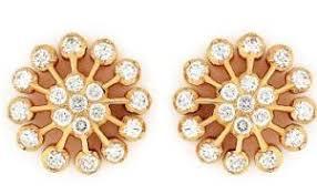 diamond ear studs traditional nine diamond earrings in usman road t nagar