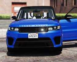 chrome range rover sport 2016 range rover sport svr add on replace gta5 mods com