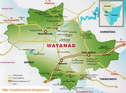 Kerala India Map by Wayanad Tourism Map Tourist Places In Wayanad Tourist