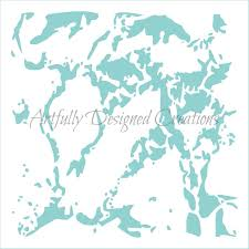 World Map Stencil Marble Stencil Artfully Designed Creations