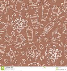 wallpaper coffee design coffee shop design seamless background stylized coffee pattern