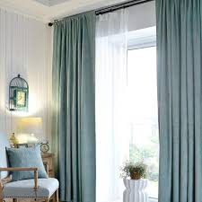Teal Curtains Teal Polyester Jacquard Striped Contemporary Patterned Curtains