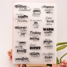 wedding gift greetings high quality diy scrapbooking clear st greetings sentence for