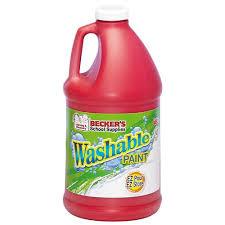 becker u0027s washable tempera paint half gallons becker u0027s