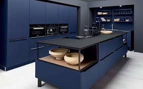blue kitchen cabinets toronto fenix midnight blue modern plus