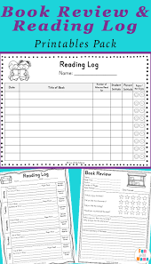 reading log pdf and book report templates with