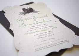 wedding invitation paper new pinecone plantable wedding invitations botanical