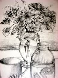 Vase Drawing 21 Flower Drawings Art Ideas Sketches Design Trends Premium