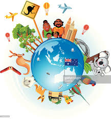 australia travel symbols vector getty images
