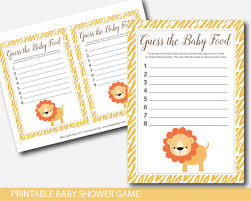 jungle baby shower guess the baby food game safari animals baby