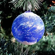 blown glass earth ornament glasssculptureorg on artfire