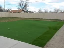 fake grass ovid colorado backyard putting green backyard