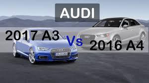 compare audi a3 and a4 sedan 2017 audi a3 vs 2016 audi a4 exterior interior drive