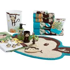 Monkey Bathroom Ideas by Mainstays Monkey Decorative Bath Towel Collection Walmart Com