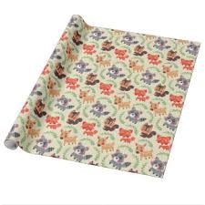 lion king wrapping paper happy forest friends haidi shabrina illustration