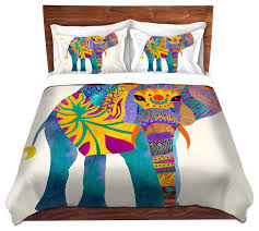 Premium Duvet Covers Dianoche Duvet Covers Twill Whimsical Elephant I Transitional