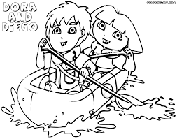 dora and diego coloring pages coloring pages to download and print