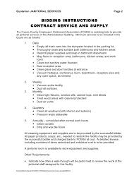 janitorial contract template best resumes curiculum vitae and