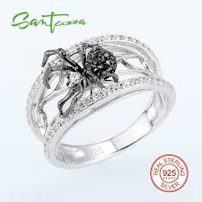 sted rings santuzza silver spider ring for women 925 sterling silver fashion