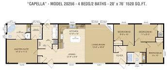2 Bedroom Single Wide Floor Plans by 20 U2032 Single Wide U2013 Blackstone Homes
