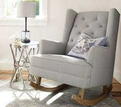 furniture baby room recliner white leather nursing chair