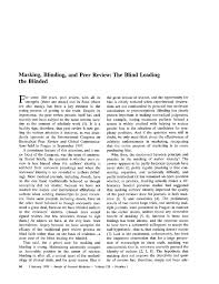 Who Leads The Blind Masking Blinding And Peer Review The Blind Leading The Blinded