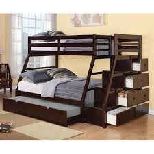 Viv Rae Reece Twin Over Full Bunk Bed With Storage Ladder And - Twin over full bunk bed with storage drawers