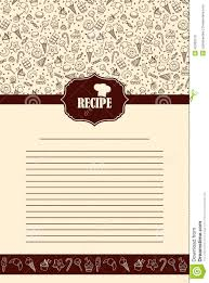 recipe book page with hand drawn sweets elements stock vector